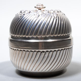 Contemporary Silver Bowl and Cover