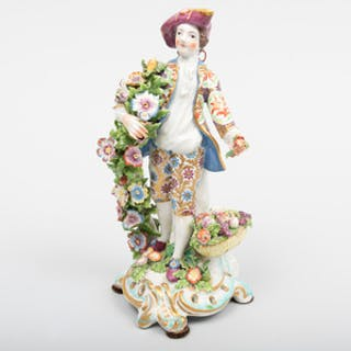 Bow Porcelain Figure Emblematic of Spring