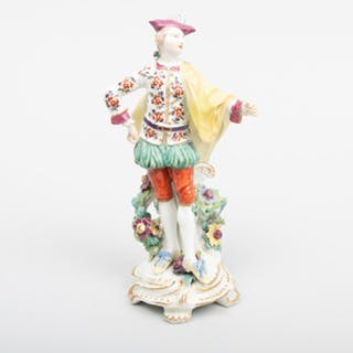 Derby Porcelain Figure of a Male Ranelagh Dancer