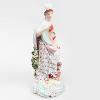 Derby Porcelain Large Figure of Minerva