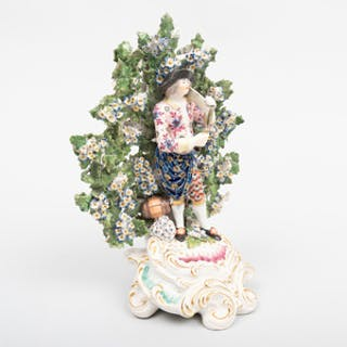 English Porcelain Bocage Figure of a Harvester