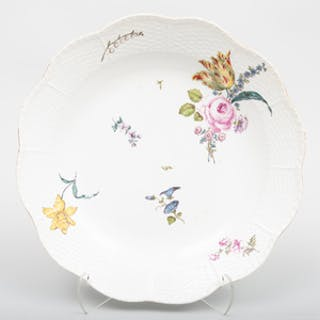 Meissen Porcelain Large Shaped Circular Serving Dish