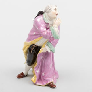 Meissen Porcelain Male Figure 'Thrown Kiss'