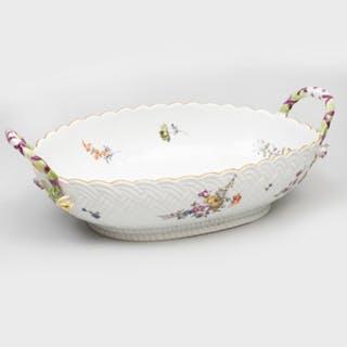 Meissen Porcelain Two Handled Basket