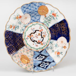 Worcester Porcelain Scalloped 'Imari' Plate