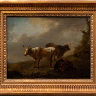 Follower of Aelbert Cuyp (1620-1691): Cattle with a Sleeping Herdsman