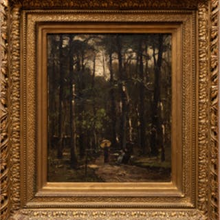 Mihaly Von Munkacsy (1844-1909): A Stroll in the Woods