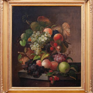 Charles Baum (1812-1878): Still Life with Fruit