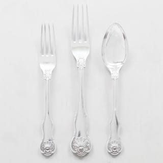 J. Wagner & Son Silver Part Flatware in the 'Shell' Pattern