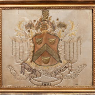 Mary Balch School: Parker Family Embroidered Coat-of-Arms