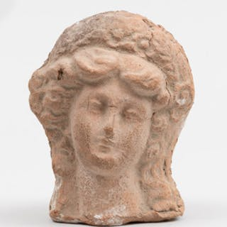 Roman Pottery Bust of a Classical Goddess