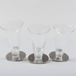 Three Borek Sipek Metal-Mounted Glasses