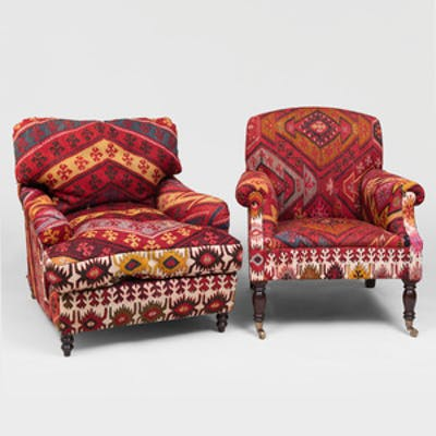 Two Kilim Upholstered Club Chairs In The Manner Of George Smith Barnebys,Best Places To Travel In November 2020 Usa