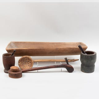 Group of Seven American Wood Implements