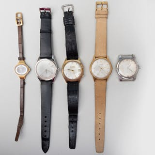 Group of Five Watches