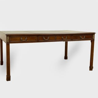 George III Style Partner's Desk, of Recent Manufacture