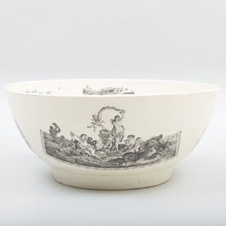 Liverpool Transfer Printed Creamware Bowl