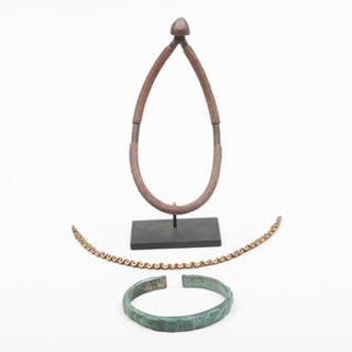 African Bronze Oval Necklace