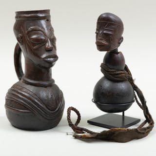 Luba Wood and Gourd Calabash, Democratic Republic of the Congo