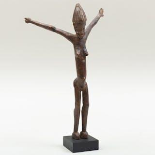 Lobi Wood Standing Female Figure, Burkina Faso