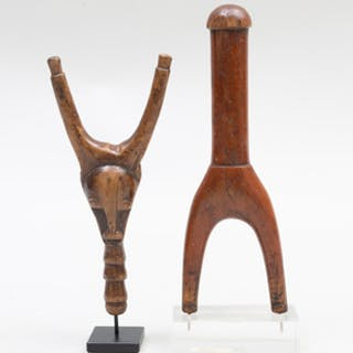 Baule Wood Sling Shot, Ivory Coast