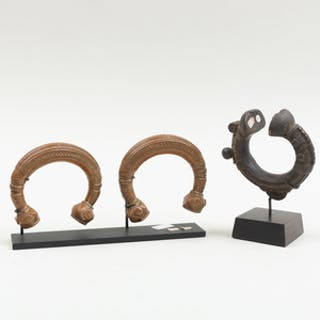 Pair of Tuareg Copper Cuff Anklet Currency, Niger