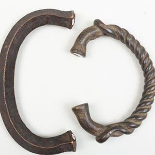 Large Jonga Bronze Currency Piece, Democratic Republic of the Congo