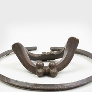 Gurunsi Bronze Ceremonial Anklet, Burkina Faso