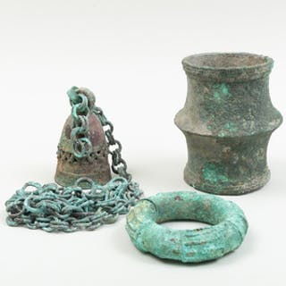 Two Djenné Archaeological Bronze Bracelets, Maliian