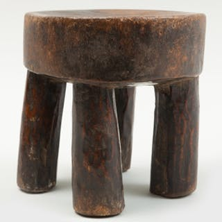Senufo Wood Small Stool, Ivory Coast