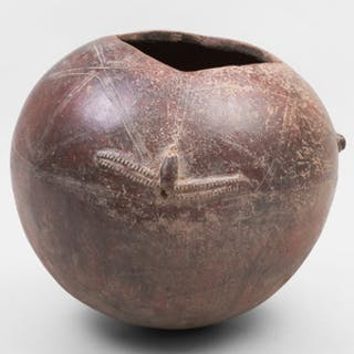 African Pottery Ovoid Bowl