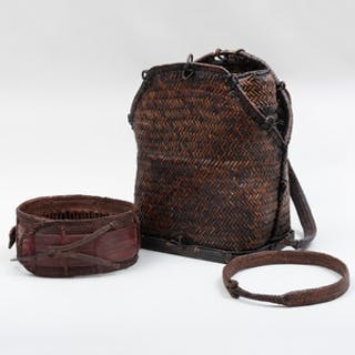 Large Ifugao Woven Rattan Hunter's Backpack, Philippines