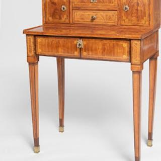 Louis XVI Ormolu-Mounted Kingwood and Tulipwood Parquetry Bonheur du Jour