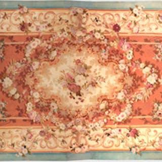 Napoleon III Style Floral Aubusson Carpet