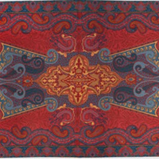 Victorian Style Paisley Needlework Carpet