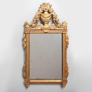 Small Louis XVI Style Giltwood Mirror
