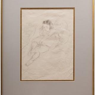 Jules Pascin (1885-1930): Jeune fille assise