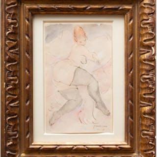 Jules Pascin (1885-1930): Reclining Female Nude