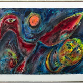 Carl-Henning Pedersen (1913-2007): The Red Sun and the Red Bird