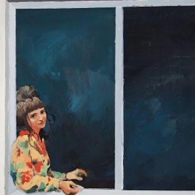 Chica en una ventana - Mako Moya