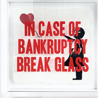 In Case of Bankruptcy - Banksy Balloon Girl left (60x60cm)