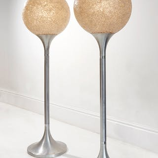 Pair of White Mosaic Glass Lamps | dicksonrendall