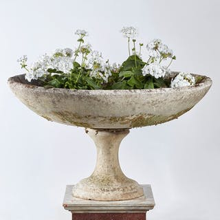 Composition Stone Bird Bath, French circa 1930's | dicksonrendall