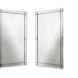 Original pair of large Venetian mirrors, with mirrored borders | dicksonrendall