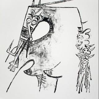 LAM Wifredo - Figure ocre II