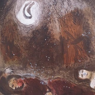 CHAGALL Marc - Ruth at the feet of Boaz