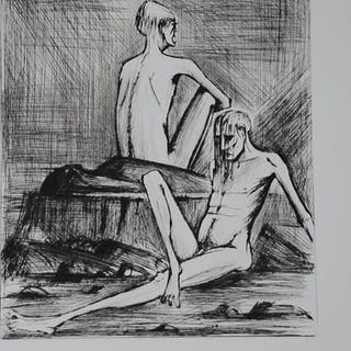 BUFFET Bernard - L'enfer de Dante - Deux damnés