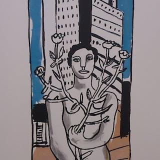 LEGER Fernand - La femme à la fleur