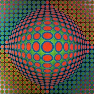 VASARELY Victor - Composition abstraite