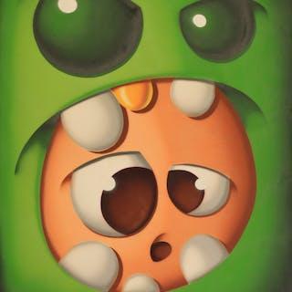 "GUM - SALE GOSSE ""GREEN MONSTER"" 100X81CM"